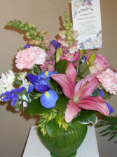 Mother's Day Wishes vase