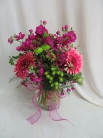 Mother's Embrace Fresh Mixed Vased Arrangement