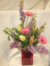 Mother's Garden  Vase of spring garden flowers