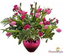 Mother's Heart Flower Arrangement