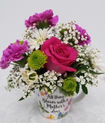 Mother's Love Bouquet Fresh Arrangement in Mug