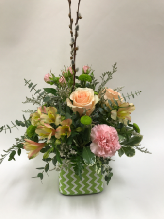 Mothers Love Cube Vase Arrangement In Goderich On Luanns Flowers
