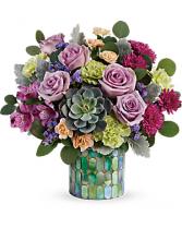 MOTHER'S MOSAIC Vase Arrangement