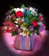 Present Floral Cube