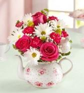 Mothers Tea Pot  Mixed flowers