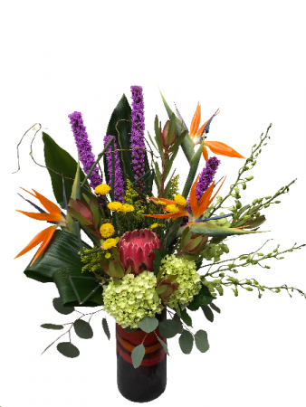 Mother's Tropical Escape Vase Arrangement