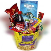 Movie Night Basket Gift Basket