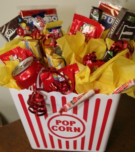 Movie Treats Gift Basket Candy Bouquet Gift Basket