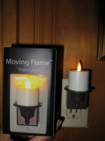 Moving Flame Night Light Candle Gift item