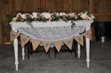 Mr. and Mrs. Head Table Garland