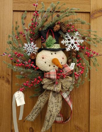 Mr. Frosty's Wreath  Silk Wreath
