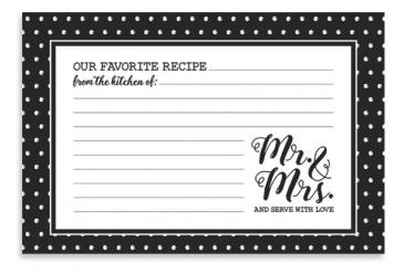 Mr. & Mrs. Recipe Cards