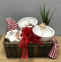 Mud Pie Salsa Hostess Gift Basket