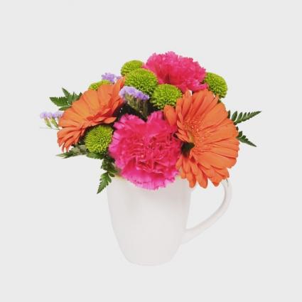Mug of Flowers  all around
