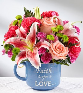 Mug of Love Colorful mix flowers