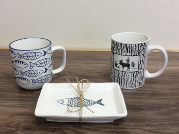 Mug / small Hors d'oeuvre plate Ceramic
