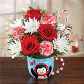 Mugable Joy To The World Holiday Floral Arrangement