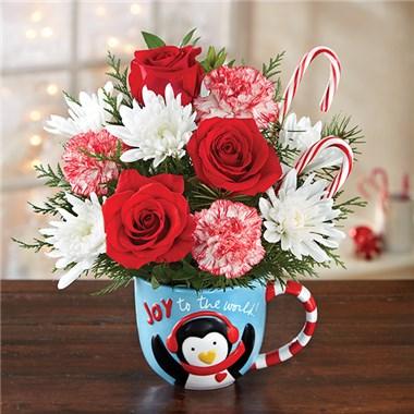 Mugable Joy To The World Holiday Floral Arrangement