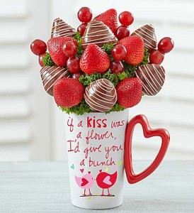Muggable Bunch of Berries  Valentine Fruit Bouquet