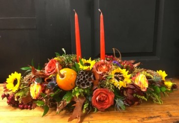 Multi Candle Centerpiece Fall