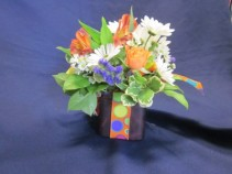 Multi Color Cube Bouquet, $25.00 Minimum of two per delivery address
