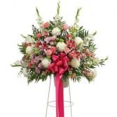 Multi Color Pastel Funeral Basket