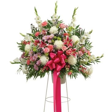 Multi Color Pastel Funeral Basket