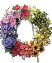 Multi  Color Wreath Wreath Funeral