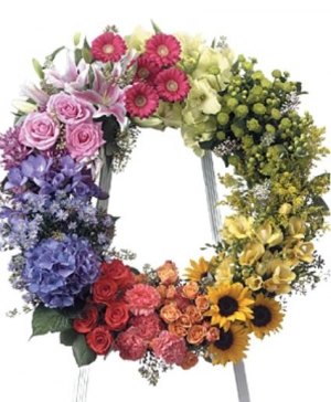 Multi  Color Wreath Wreath Funeral in Abbotsford, BC | FUNERAL FLOWERS ABBOTSFORD