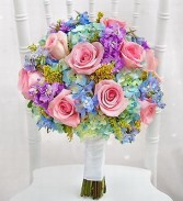 Multi colour bridal bouquet