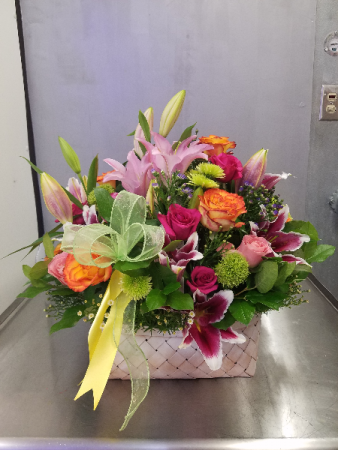 Multi Flowern Basket Just Because