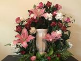 Multi Lilies & Roses Cremation & Memorial