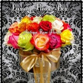 Multi Rose Luxury Flower Box Anniversary