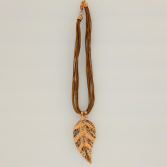 Multi-strand Rope Necklace With Leaf Pendant