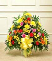 Multicolor Bright Floor Basket sympathy basket