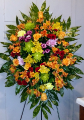 Multicolor Bright Floral Mix Standing Spray