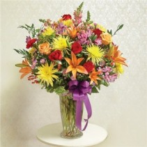 Multicolor Bright Large Sympathy Vase Arrangement