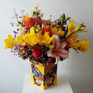 Multicolor Butterfly  Flower Arrangement in Miami, FL | FLOWERTOPIA