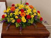 multicolor half casket piece funeral