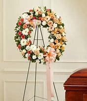 multicolor open wreath funeral