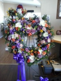Multicolor Pastel Standing Open Heart Funeral Home