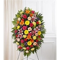multicolor standing spray funeral