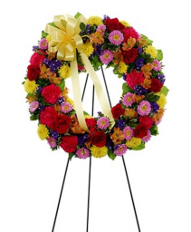 Multicolor Standing Wreath Standing spray