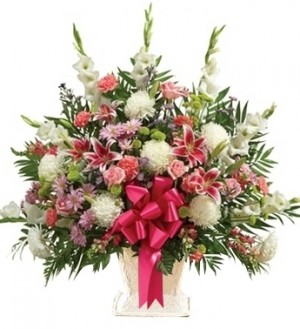 MULTICOLOR SYMPATHY BASKET in Germantown, MD | GENE'S FLORIST & GIFT BASKETS