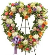 MULTICOLOR SYMPATHY  STANDING OPEN HEART