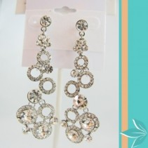 Multiple Ring Crystal Drop Earings Jewellery
