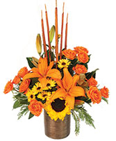 Musical Harvest Fall Florals in Lincoln, Maine | Creative Blooms Flower Shop Inc.