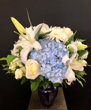 My Blue Angel Blue vase in Chesterfield, MO | ZENGEL FLOWERS AND GIFTS