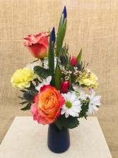 My Compliments Fresh Vase Arrangement