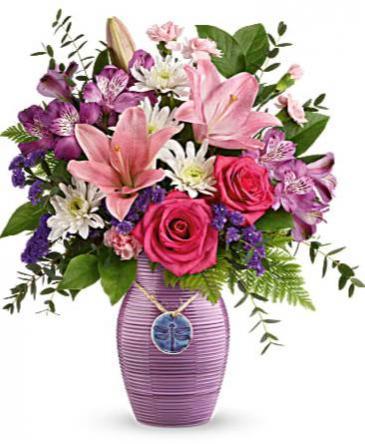 My Darling Dragonfly Glazed ceramic vase